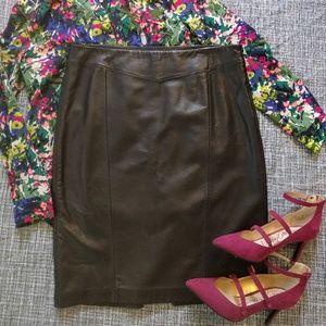 NWT Antonio Melani Soft 100% Leather Pencil Skirt